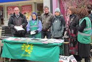 Green Party stall 14 Feb